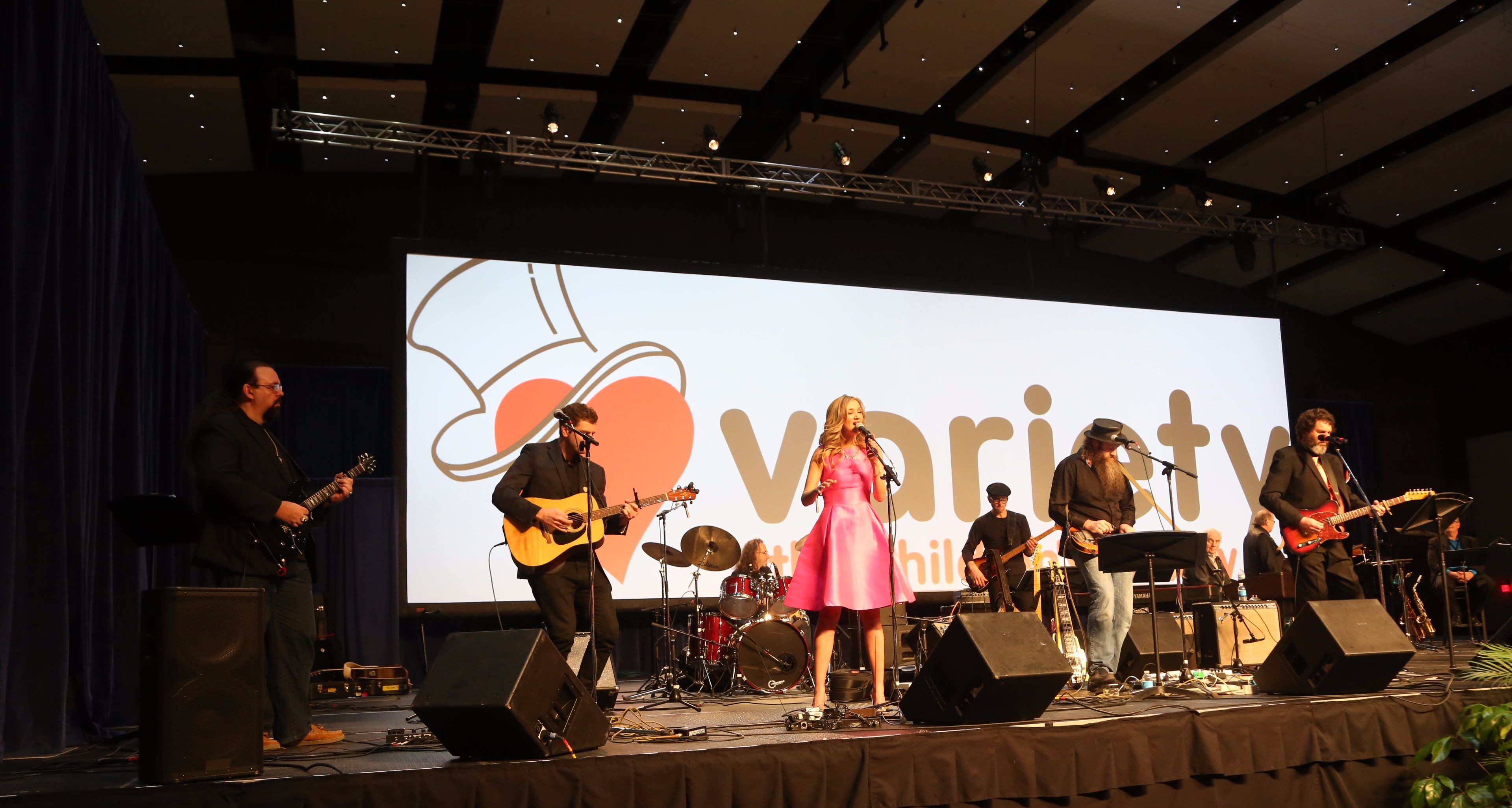 Country star Sarah Darling performs at the Variety Telethon broadcast on ABC5