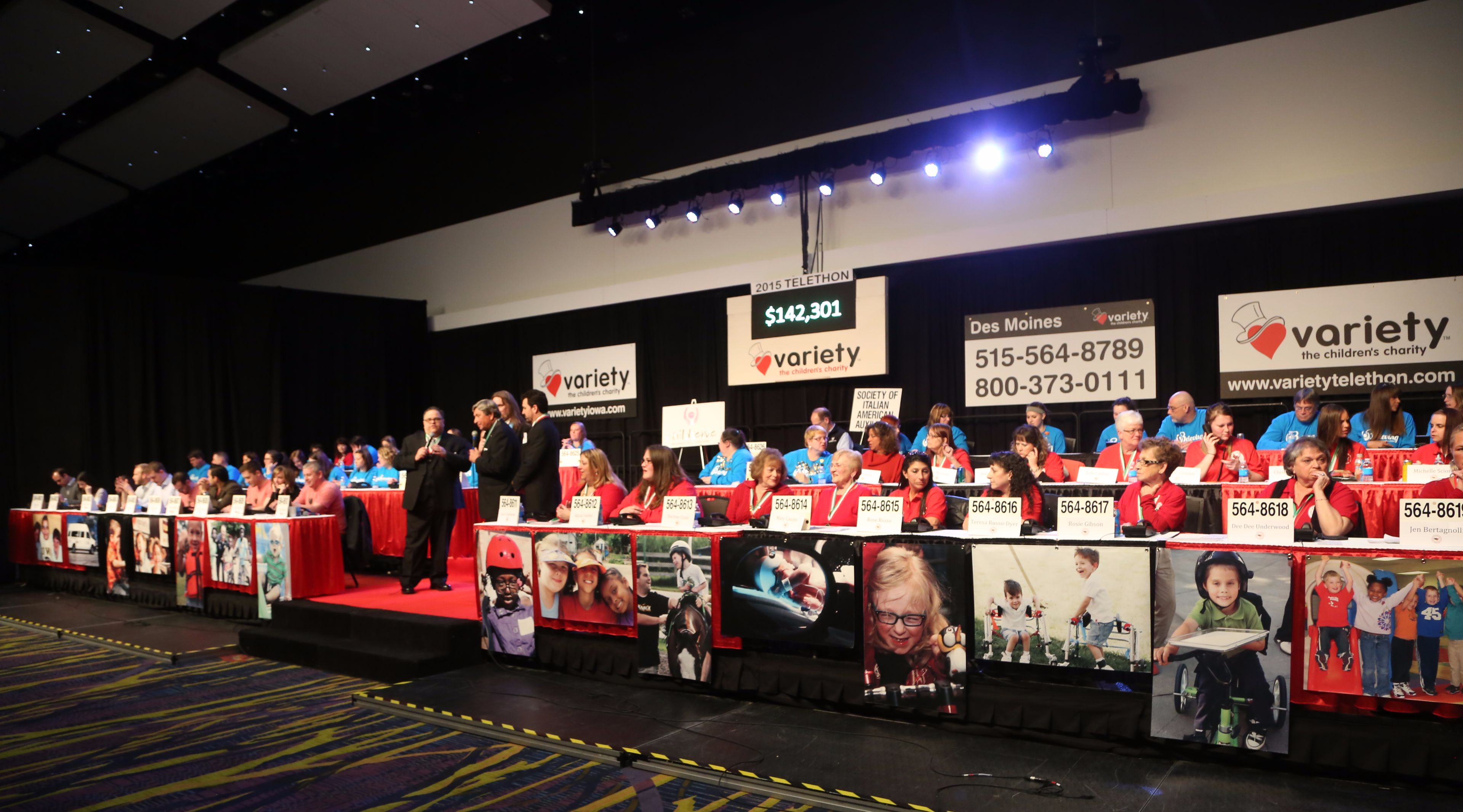 VIPs and Volunteers at the variety telethon