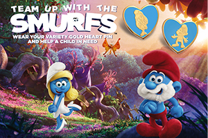 Smurf Gold Heart Pins
